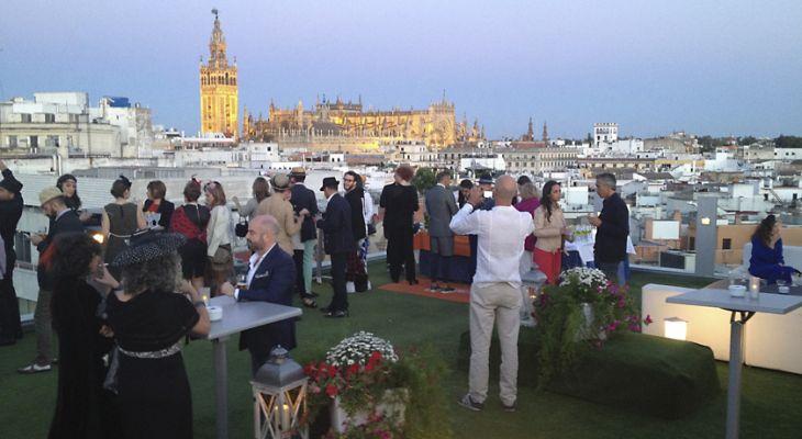La Terraza del Hotel Inglaterra en Sevilla
