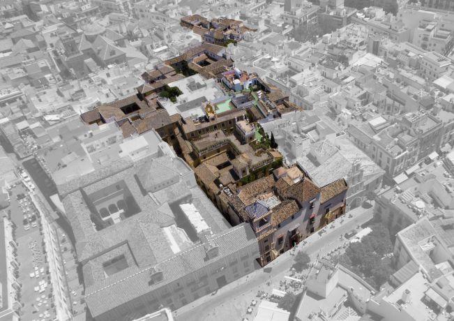 Vista aérea Hotel Las Casas de la Juderia